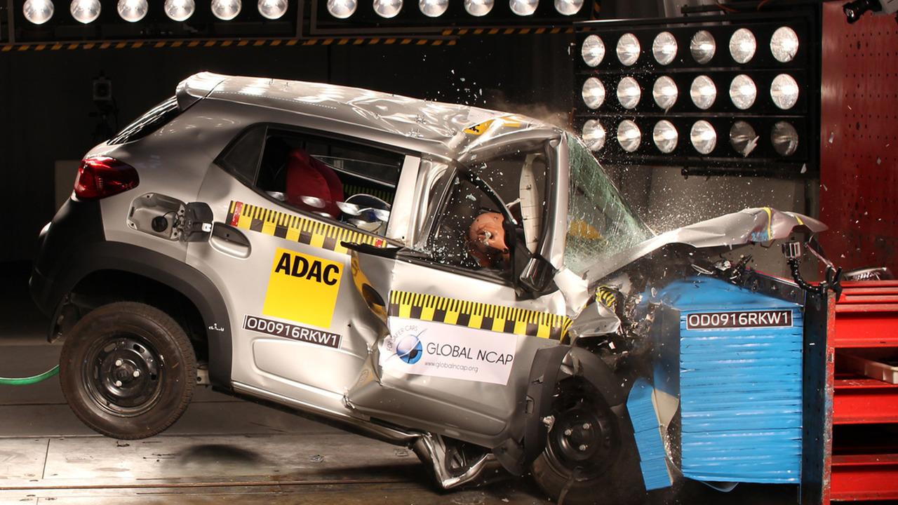 Renault Kwid in Global NCAP crash test
