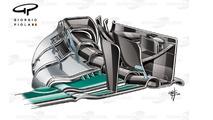 Mercedes W07 front endplate, Sochi