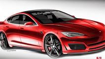 Tesla Model S by Saleen design sketches released