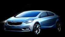 2014 Kia Forte Cerato teaser rendering 23.07.2012
