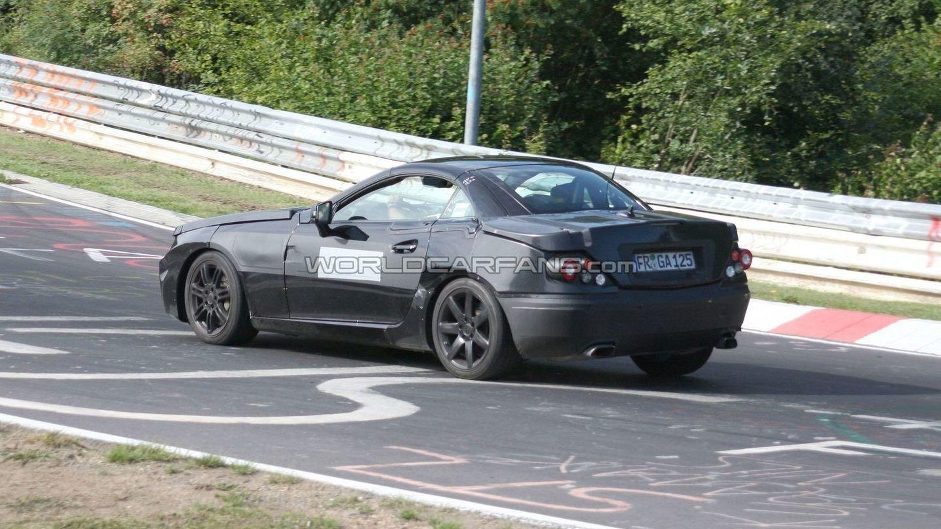 2012 Mercedes SLK spy photos at Nurburgring