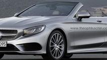 New Mercedes-Benz S-Class Cabriolet renderings
