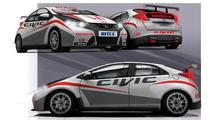Honda Civic race car for WTCC 03.02.2012