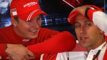 Kimi Raikkonen and Luca Badoer, Italian Grand Prix 07.09.2007