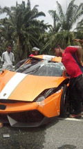 Special Lamborghini Gallardo LP550-2 MLE demolished in Malaysia
