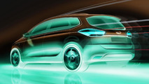 2014 Kia Rondo / Carens MPV preview sketches 25.07.2012