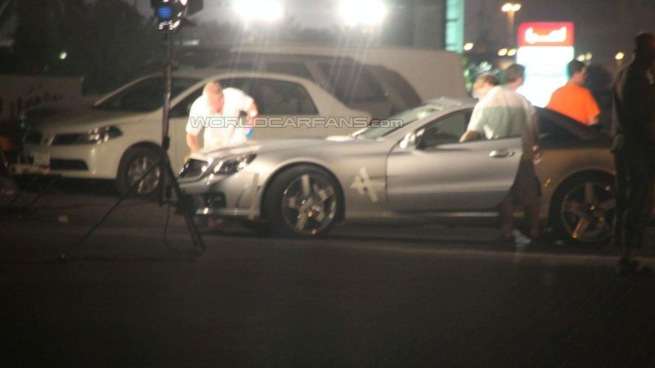 Mercedes SL Spied During Photo Shoot in Dubai