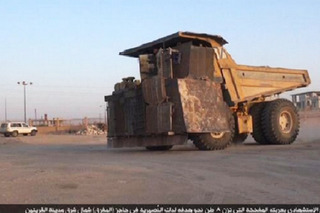 ISIS Turns 100-Ton Dump Truck Into IED
