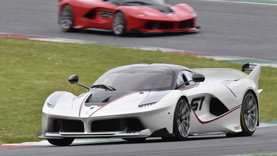 Hear 18 Ferrari FXX Ks scream during F1 Clienti-XX event