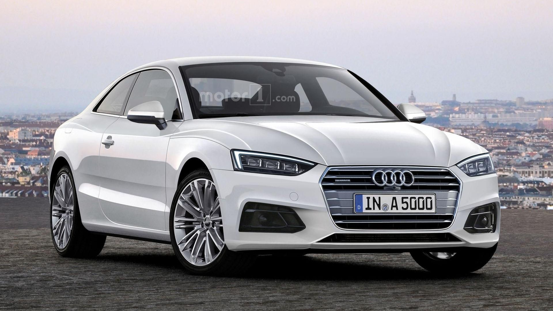 2017 audi a5 coupe looks rather stylish in new rendering. Black Bedroom Furniture Sets. Home Design Ideas