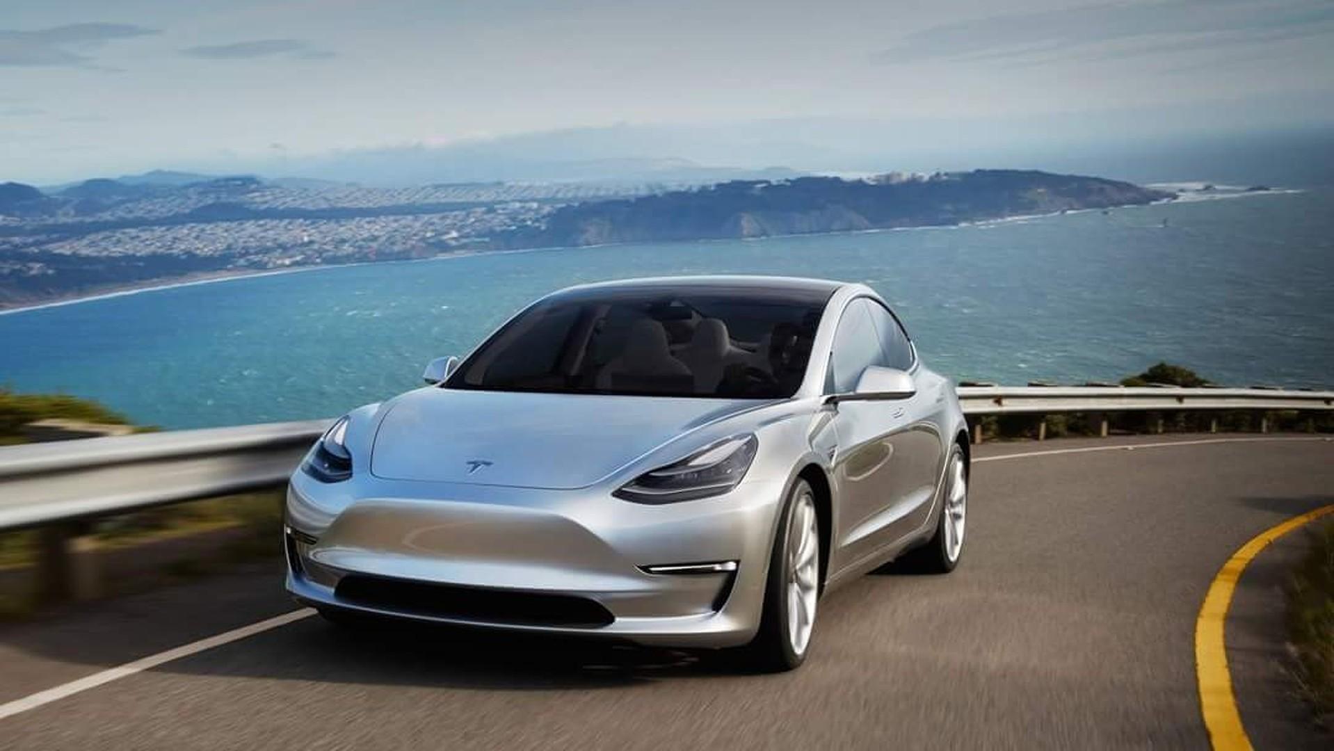 New Tesla Model 3 beauty photos surface