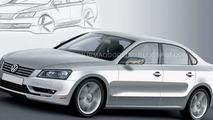 VW mid-size Sedan Rendered