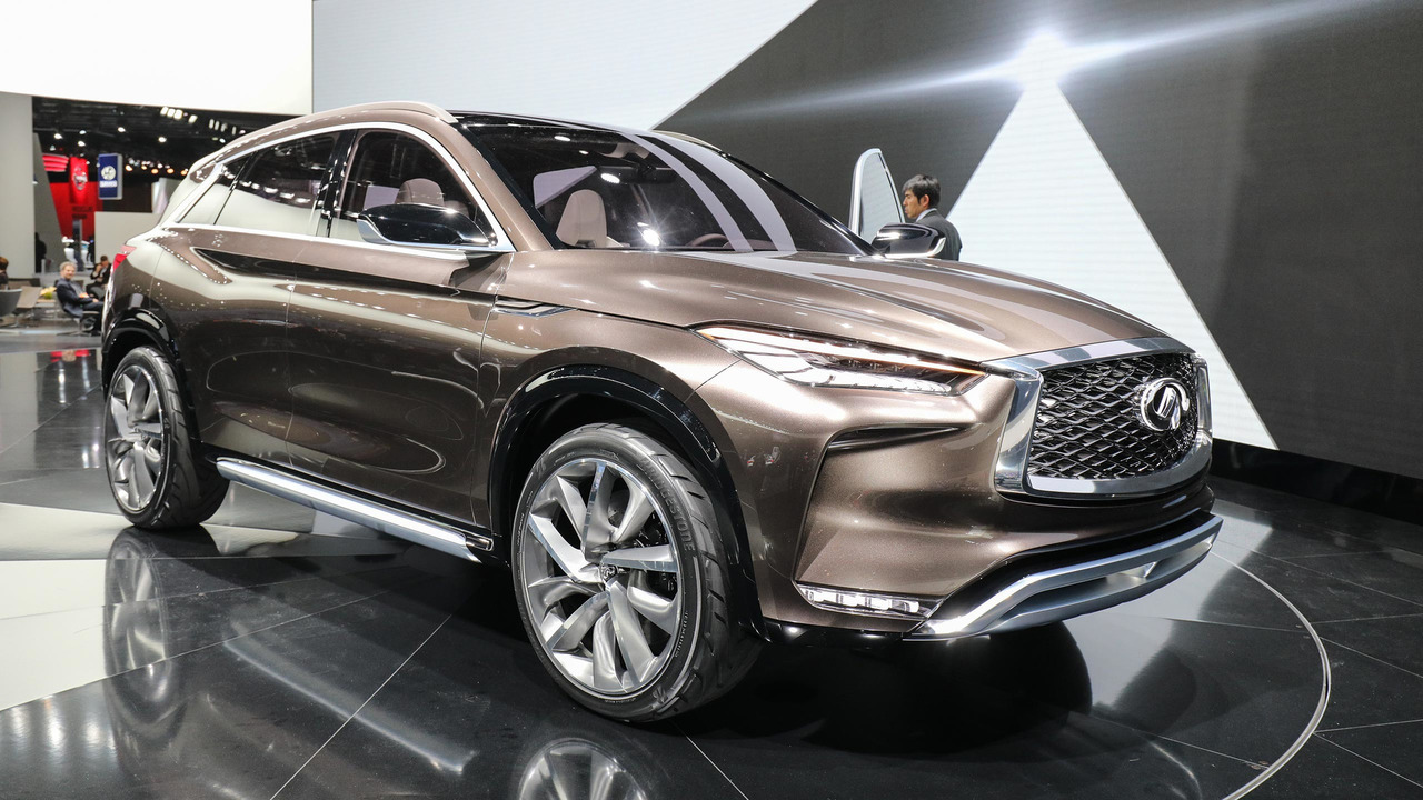 infiniti qx50 concept detroit 2017 photos. Black Bedroom Furniture Sets. Home Design Ideas