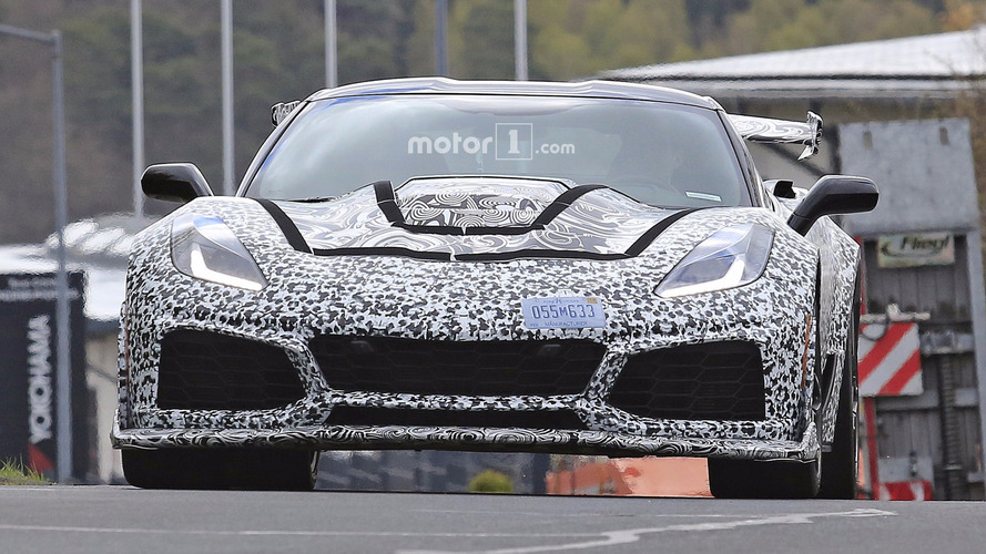 2018 Chevy Corvette ZR1 new spy shots from the Nurburgring