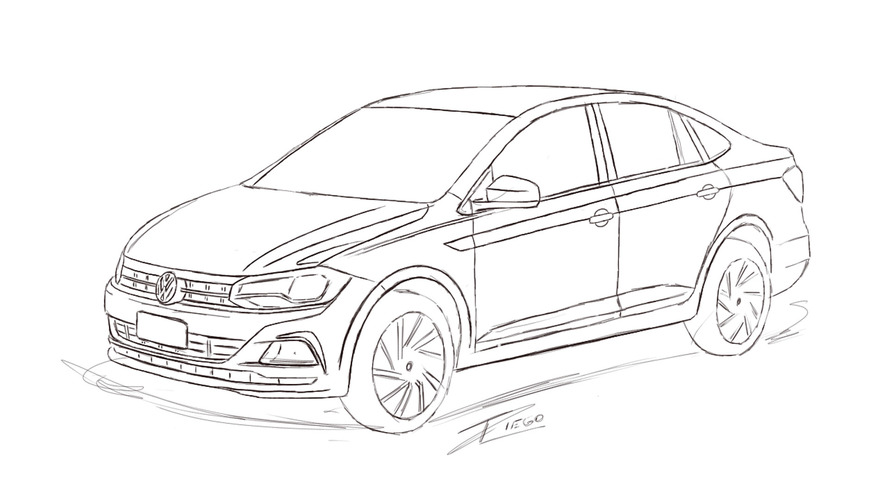 Render Volkswagen Polo Sedan 2018