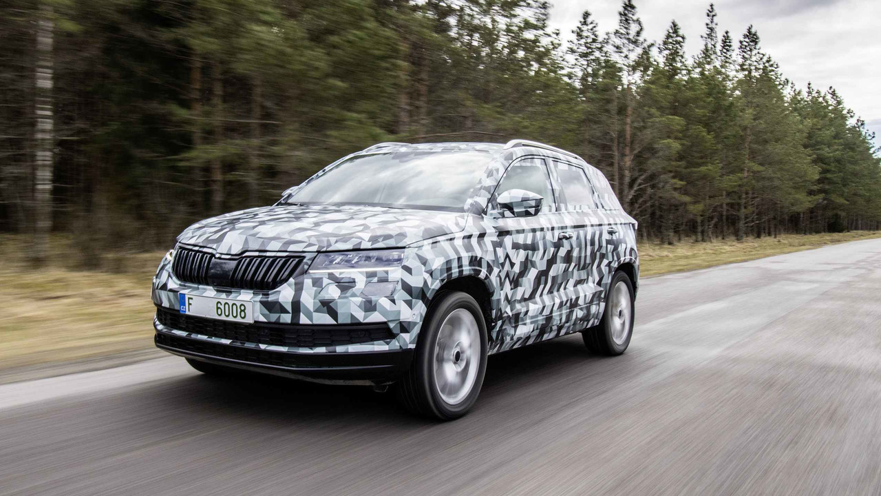 2017 skoda karoq prototype first drive photos. Black Bedroom Furniture Sets. Home Design Ideas