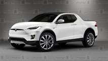 Tesla pickup render