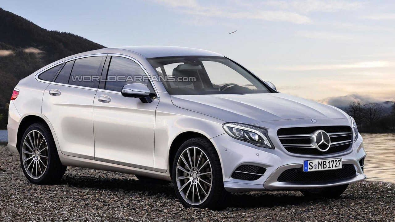 2016 mercedes glc coupe rendering - 2016 Mercedes Glc Coupe