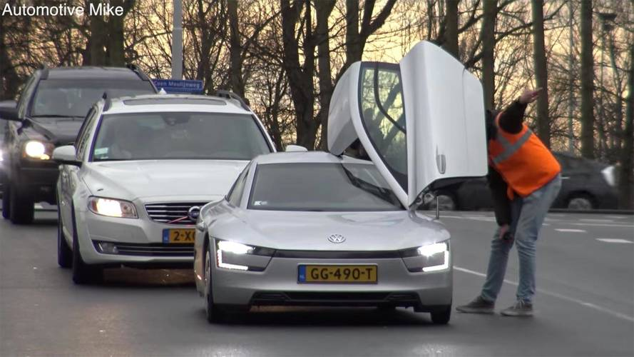 Rare VW XL1 Caught On The Road With Some Supercars
