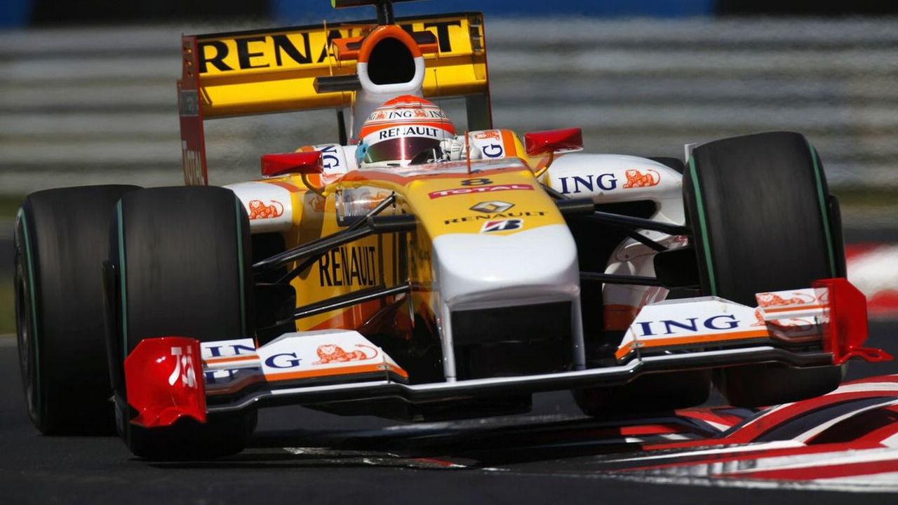 Nelson Piquet in his Final Grand Prix for Renault at the 2009 Hungarian Grand Prix