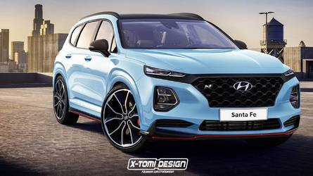 2019 Hyundai Santa Fe Already Imagined With N Attire