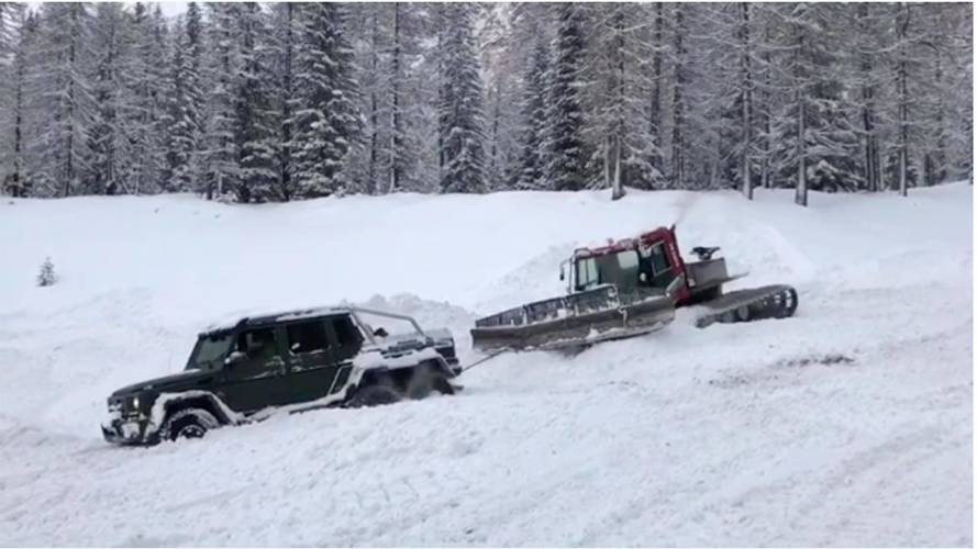 Looks Like The Mercedes-AMG G63 6x6 Has Met Its Match: Snow