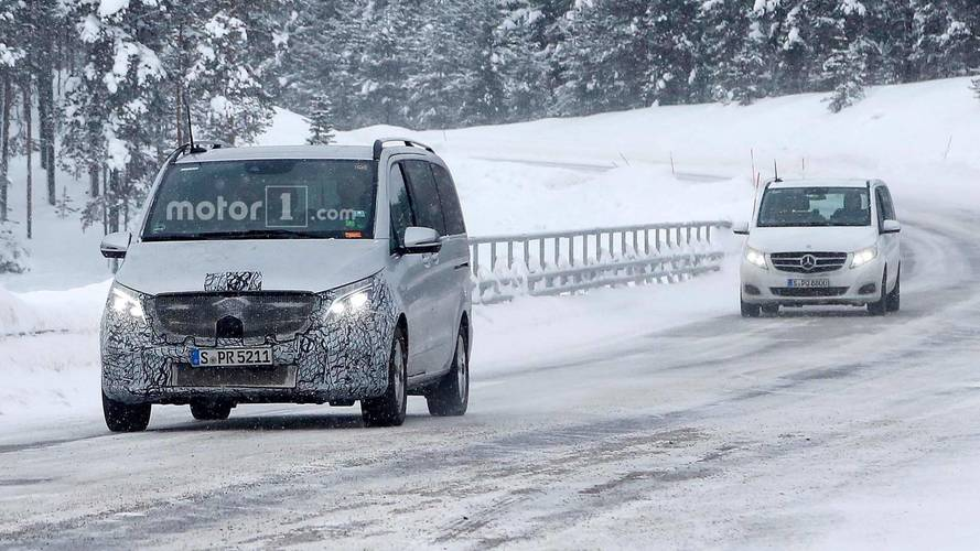 Mercedes-Benz V-Class Spied Showing Minor Front-End Refresh