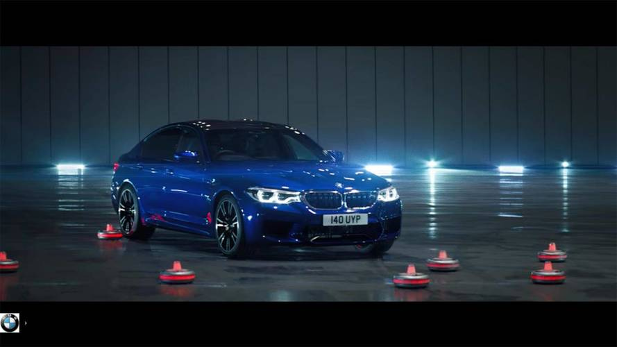 Moving Cones Are No Match For The BMW M5's Drifting Capabilities