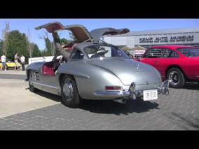 1954 Mercedes 300 SL Gullwing Revving, Accelerating, and Walk Around