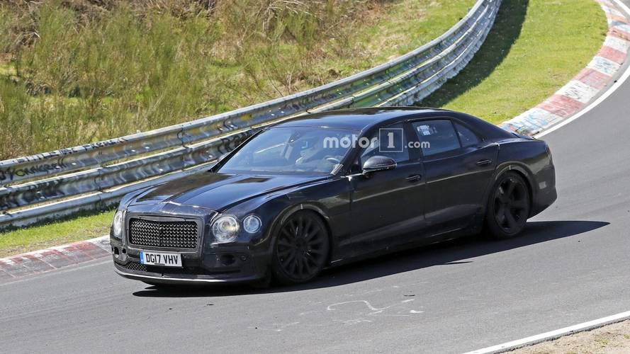2019 Bentley Flying Spur Shows Its Weird Camo At The Nurburgring