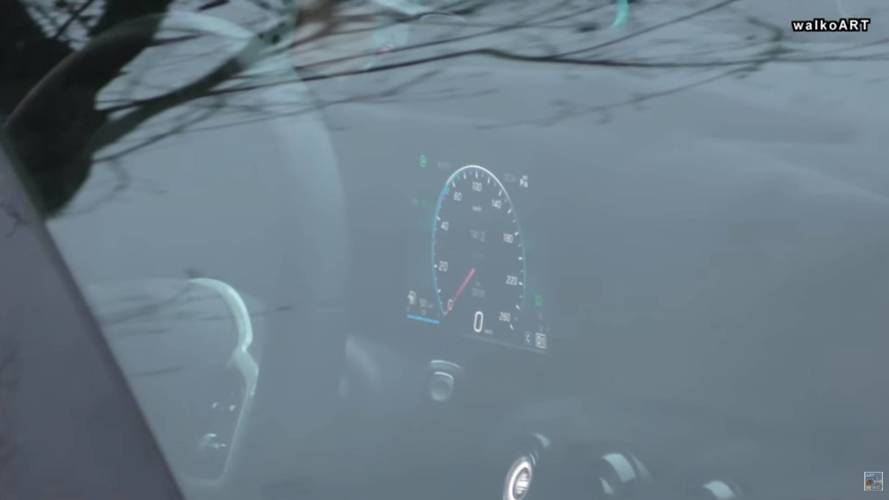 Mercedes A-Class spotted with digital instrument panel