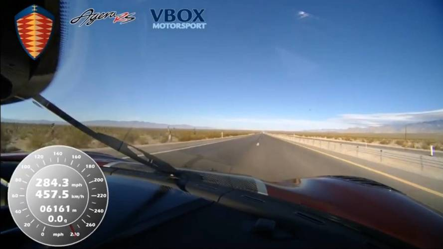 Onboard Video Shows Koenigsegg Agera RS Briefly Hit 284.3 MPH