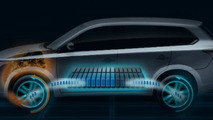2013 Mitsubishi Outlander PHEV electrifies Paris crowd