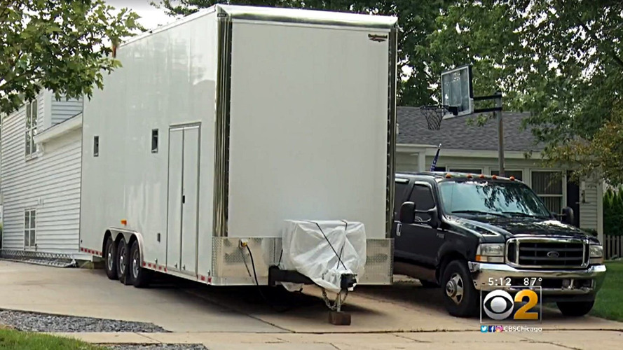 Homeowners file petition against huge box trailer in neighbor's driveway