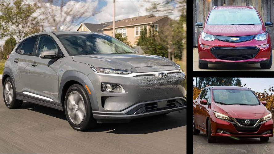 How The Hyundai Kona EV Compares To The Chevy Bolt And Nissan Leaf