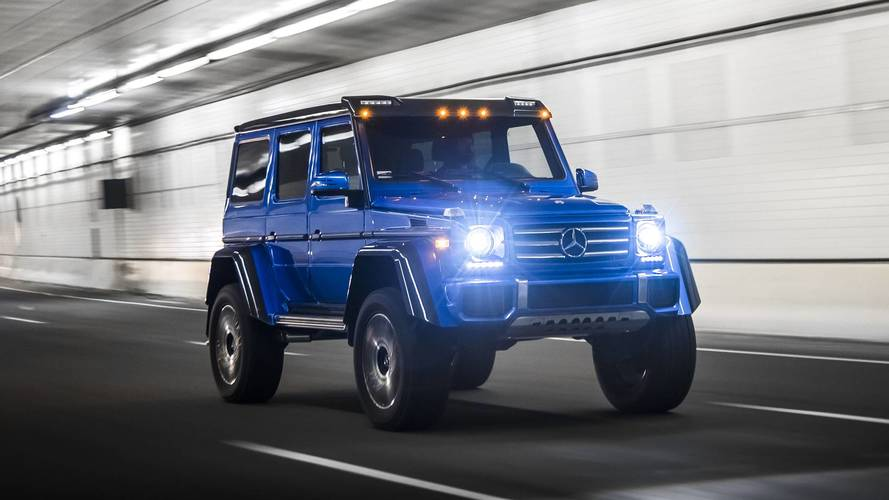 2017 mercedes benz g550 4x4 review size queen for Mercedes benz 4x4 squared