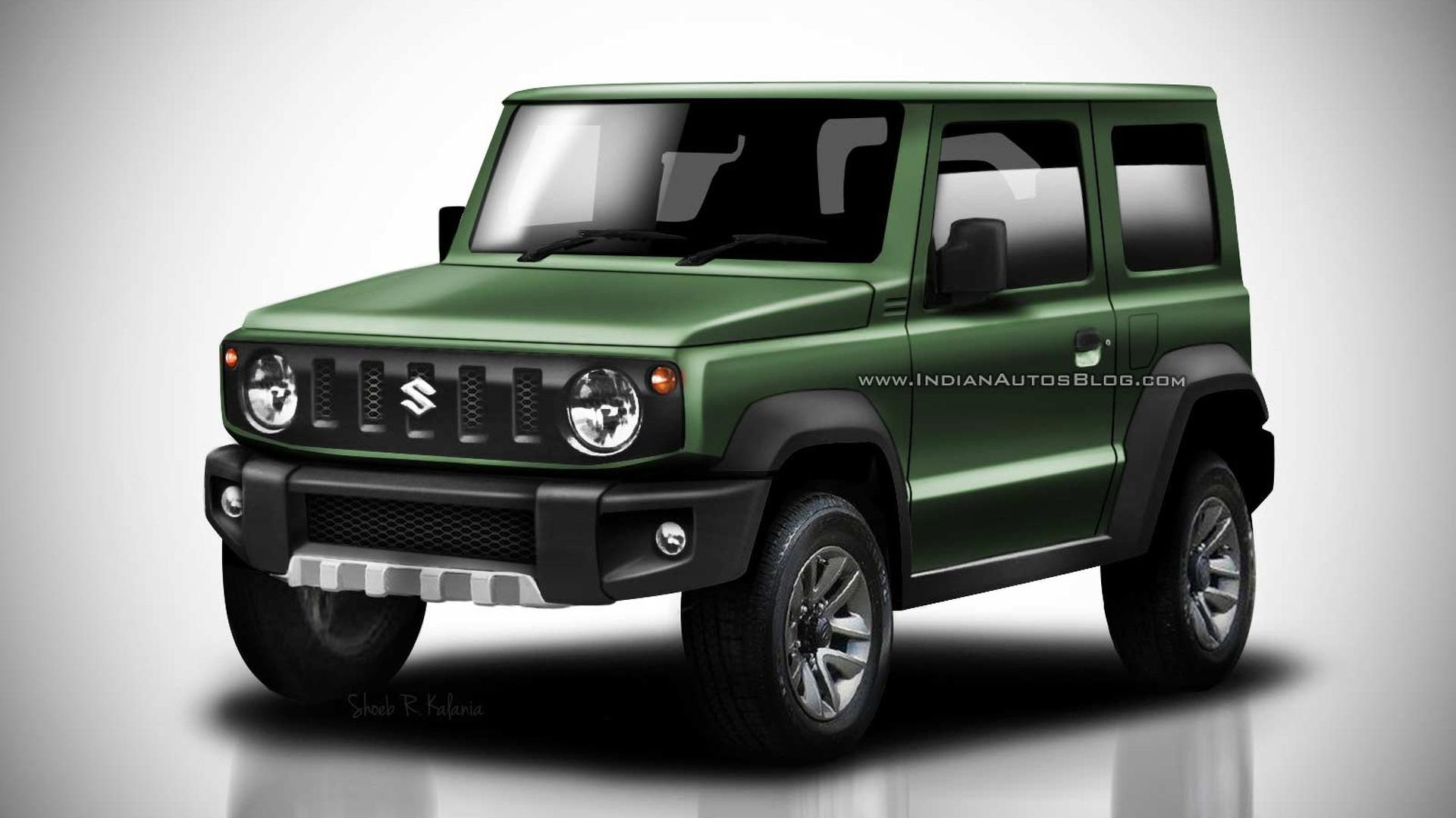 2018 suzuki jimny leaked images go high res in colorful renders. Black Bedroom Furniture Sets. Home Design Ideas