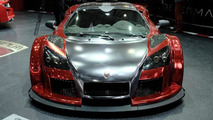 Gumpert Apollo 2M Designs chrome red wrap in Geneva