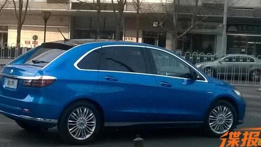 Daimler and BYD's Denza EV spotted on the streets ahead of next month's official reveal