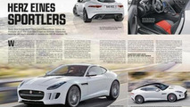 Jaguar F-Type Coupe leaks out early