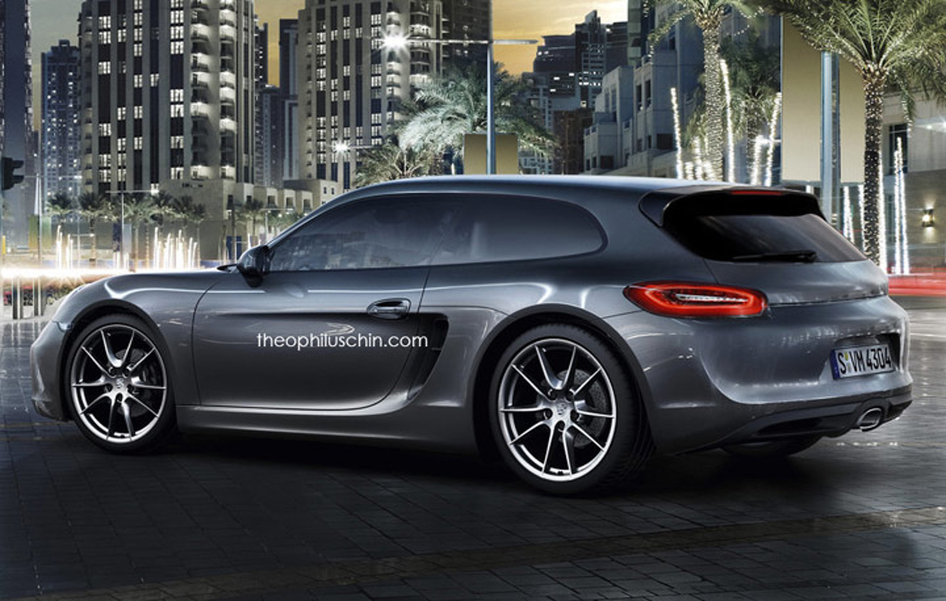 Porsche Cayman Doubles as Sporty Shooting Brake