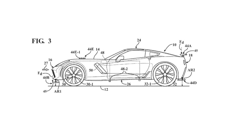 general motors active aerodynamic patent corvette photo