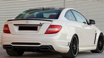Mercedes-Benz C63 AMG Coupe Black Series, rear.I have changed a lot of stuff: - The car is closer to the ground - I made it wider just as the wheels - It has other exhaust - An air intake - Other diffuser made out of carbon, including a grill - A lo