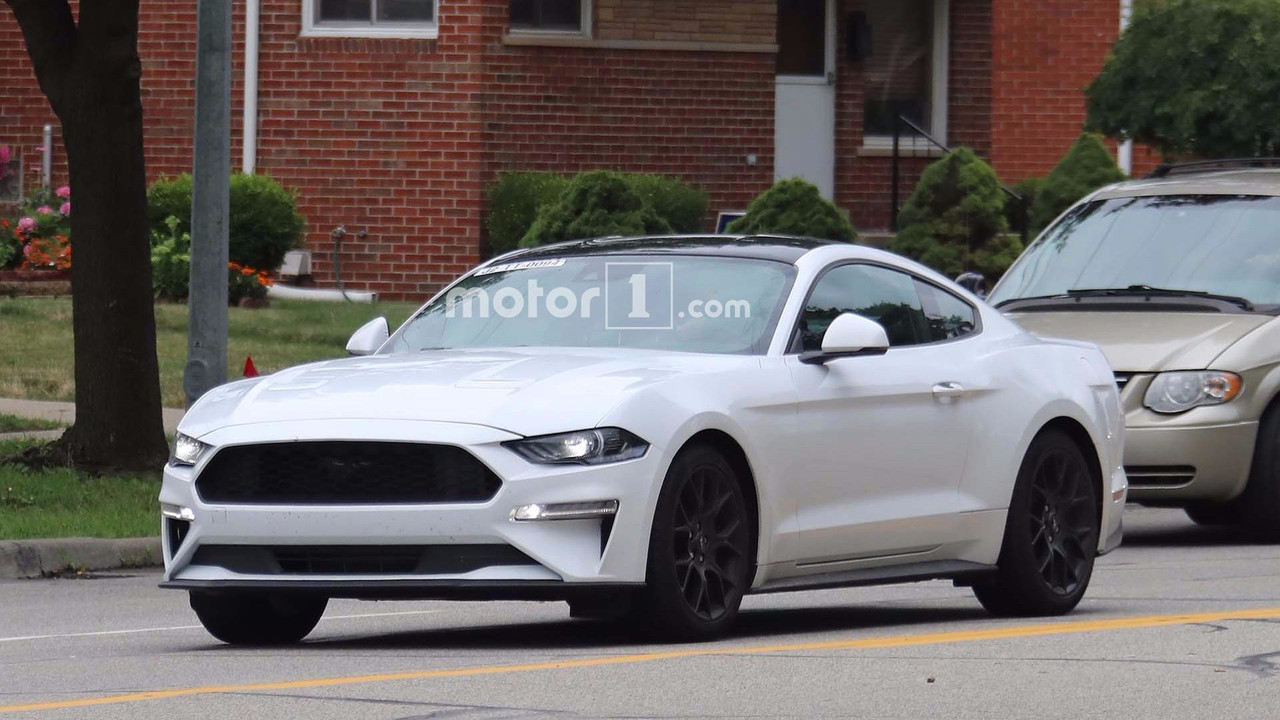 2018 ford mustang for europe spied in america. Black Bedroom Furniture Sets. Home Design Ideas