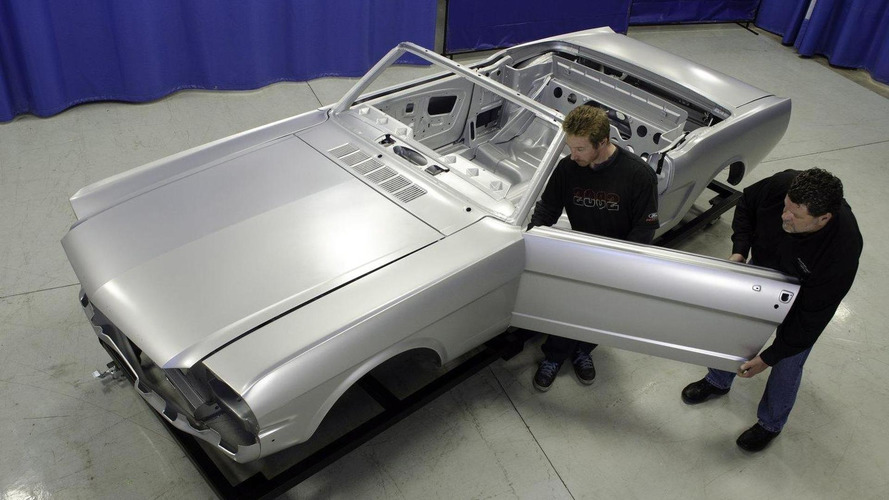 Ford revives classic '64-'66 Mustang - offered as a body shell [video]