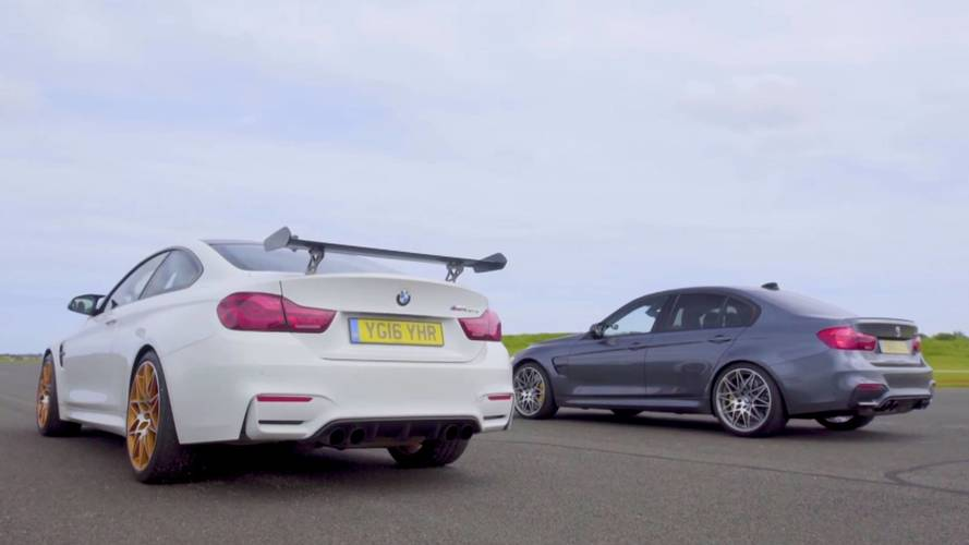 Family Duel: BMW M3 Competition Pack Drag Races BMW M4 GTS