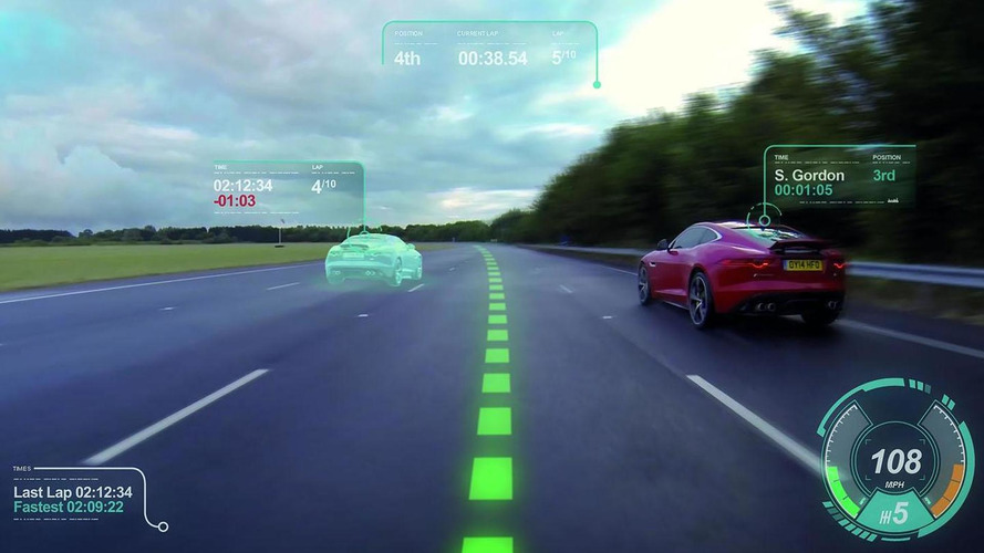Jaguar shows off their new virtual windscreen [video]