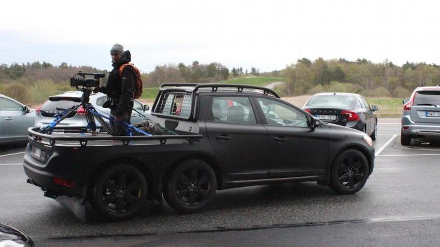 Six-wheeled Volvo XC60 spotted at firm's headquarters in Gothenburg
