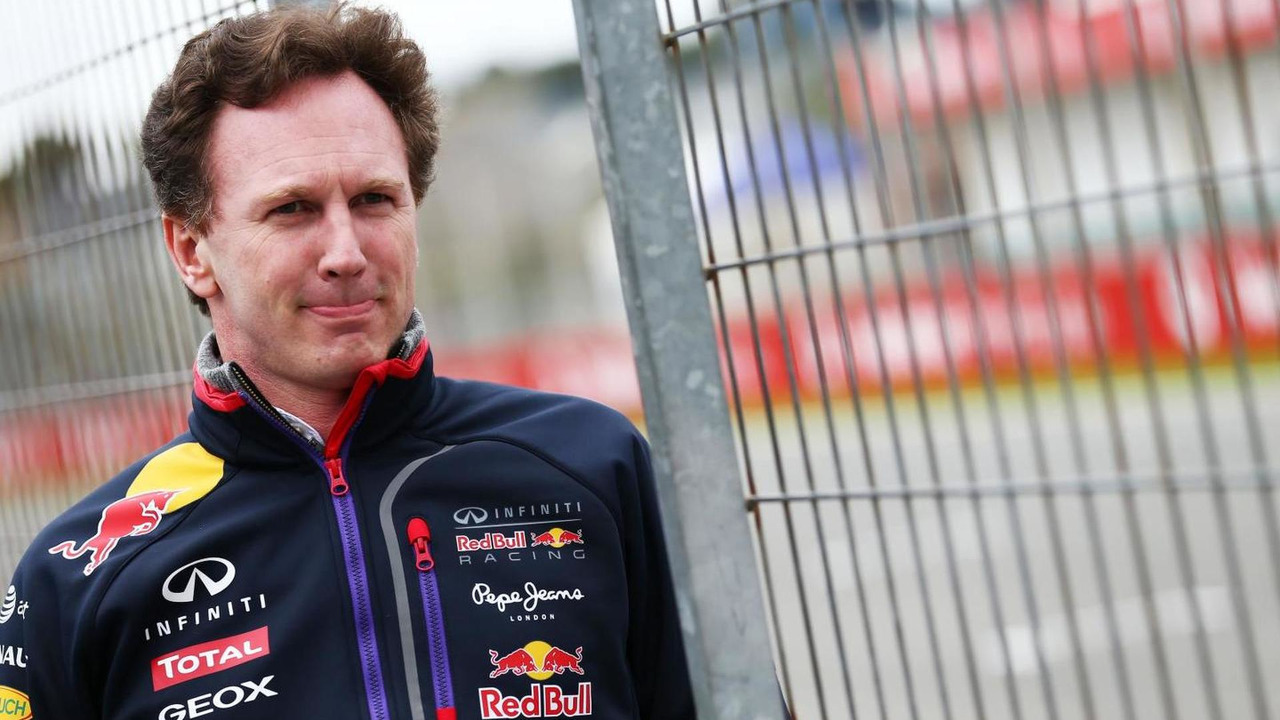 Christian Horner 28.01.2014 Formula One Testing Jerez Spain
