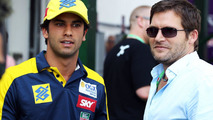 Felipe Nasr with Steve Robertson 27.07.2013 Hungarian Grand Prix